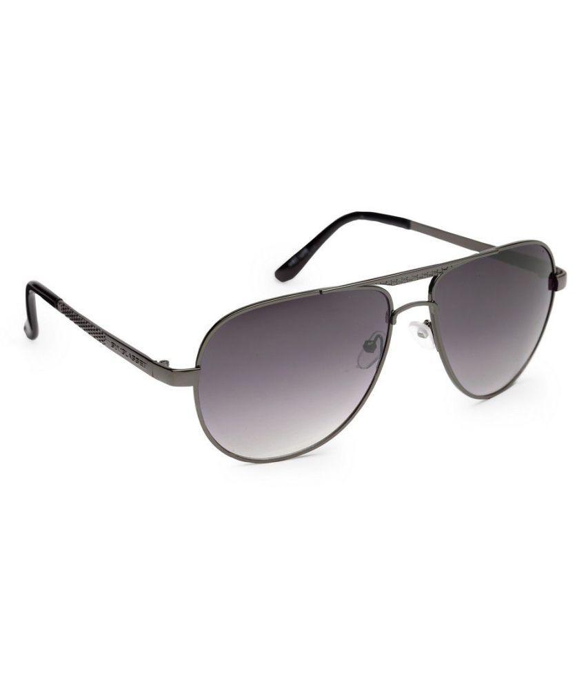 Get Glamr Grey Aviator Sunglasses ( SG-UN-1248-140 )