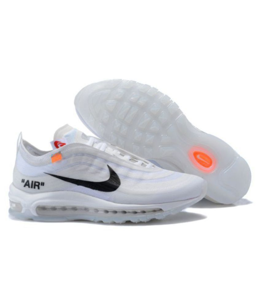 Nike Air Max 97 Off-White x 2019 LTD White Running Shoes - Buy Nike Air Max  97 Off-White x 2019 LTD White Running Shoes Online at Best Prices in India  on ... e5438b08f