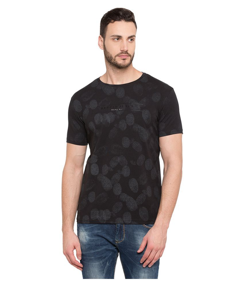 Status Quo Black Half Sleeve T-Shirt