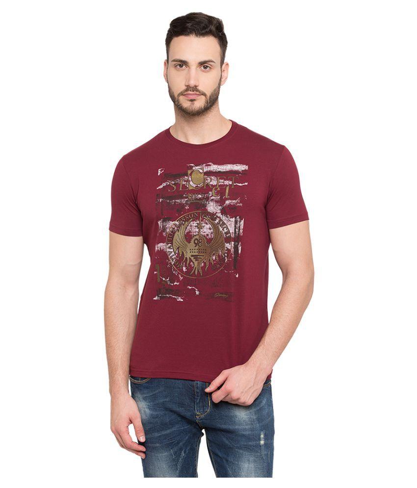 Status Quo Red Half Sleeve T-Shirt