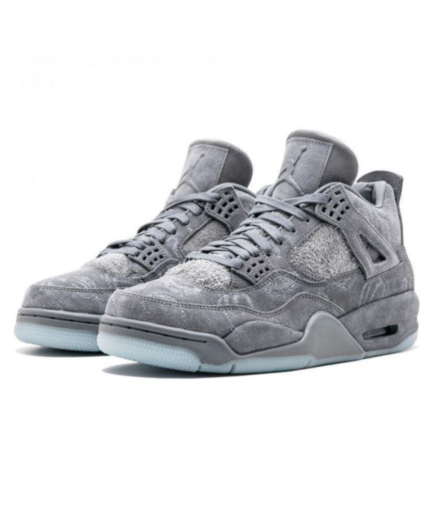 2c28fca400e9 Jordan AIR JORDAN KAWS 4 Gray Basketball Shoes - Buy Jordan AIR JORDAN KAWS  4 Gray Basketball Shoes Online at Best Prices in India on Snapdeal