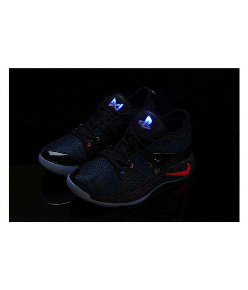 best website 1f658 08aff Nike PG 2 PLAYSTATION LED LIGHT Blue Basketball Shoes