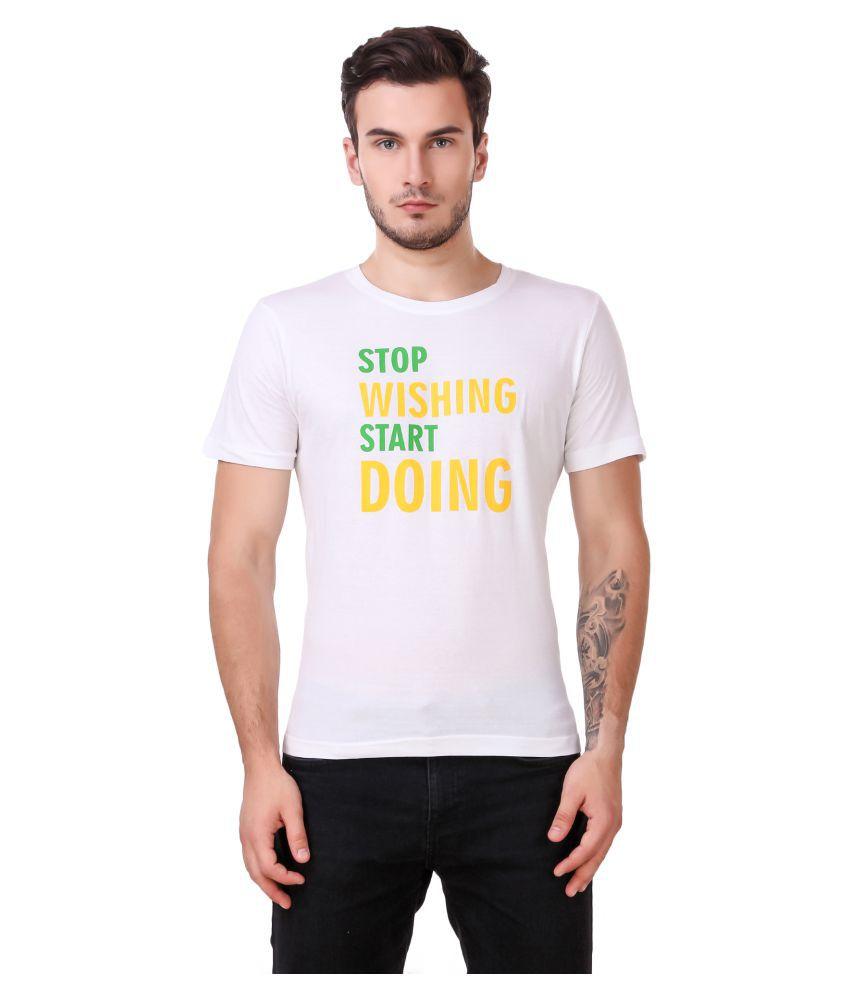 Zaambia White Half Sleeve T-Shirt Pack of 1