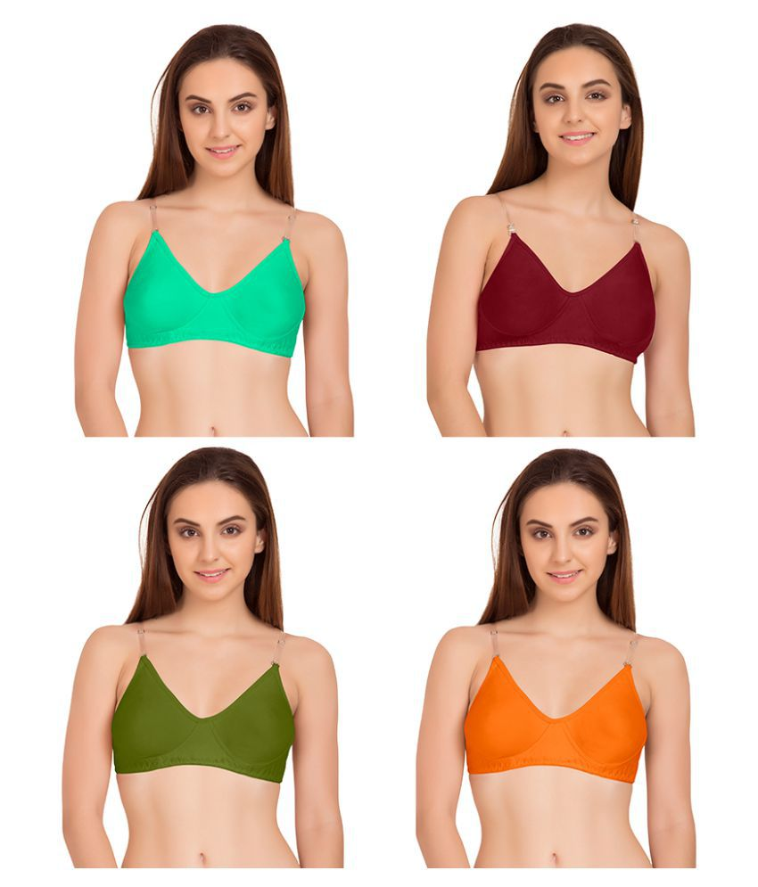 854c597fdde Buy Komli Cotton T-Shirt Bra - Green Online at Best Prices in India -  Snapdeal