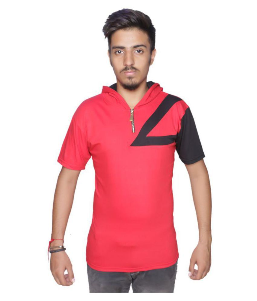 TWINSBOYS Red Half Sleeve T-Shirt Pack of 1