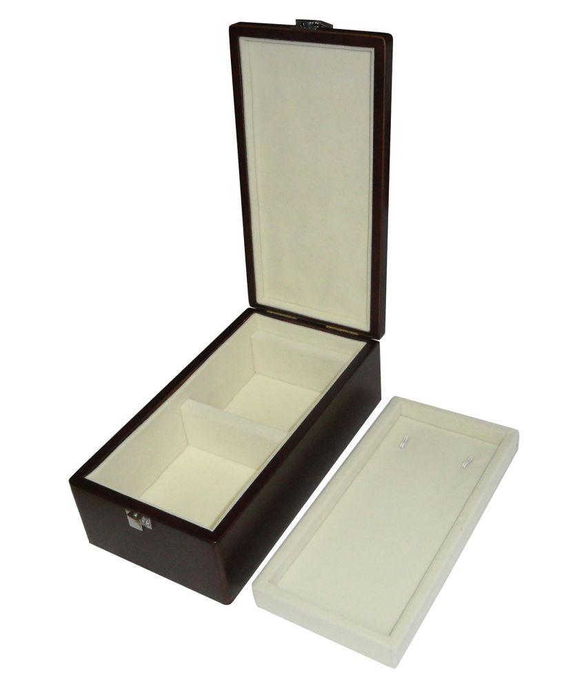 atorakushon® Multipurpose Necklace Earring bangle bracelet Exclusive Wooden Jewellery Locker Box (Bank Locker Size) Ideal Jewellery Box for Locker in Bank Jewelry Wedding Gift, wardrobe orgniser\Regular Makeup Vanity Box (Brown)