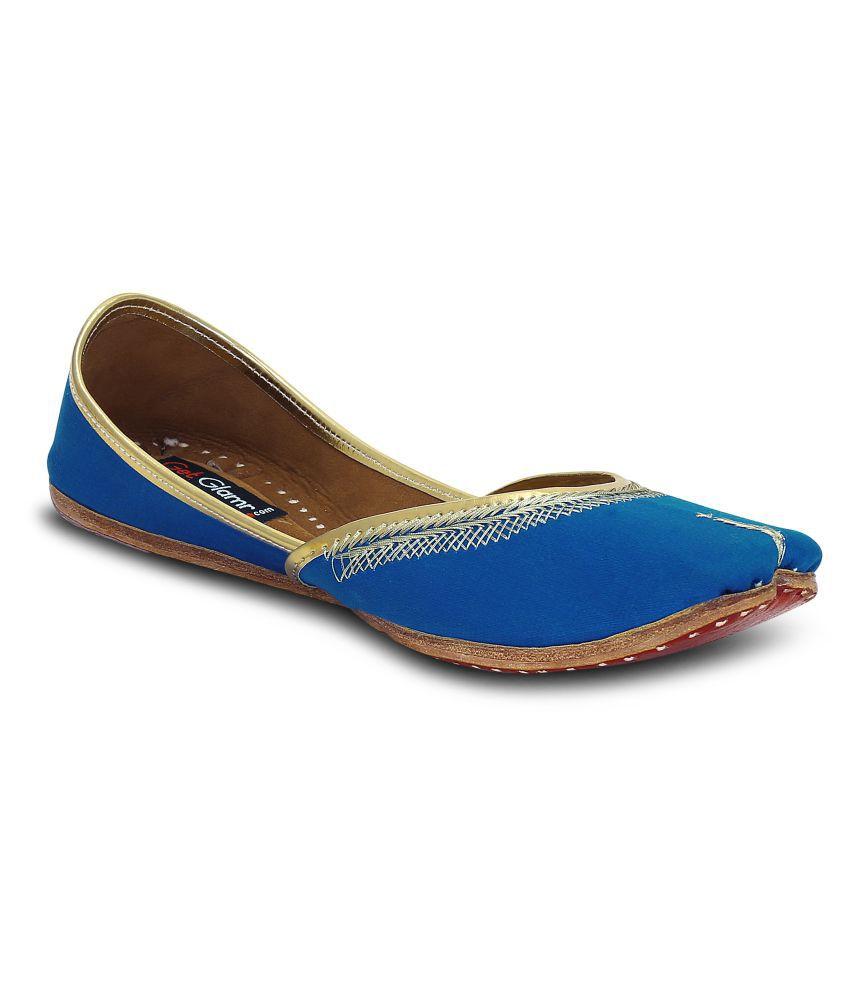 Get Glamr Blue Ethnic Footwear