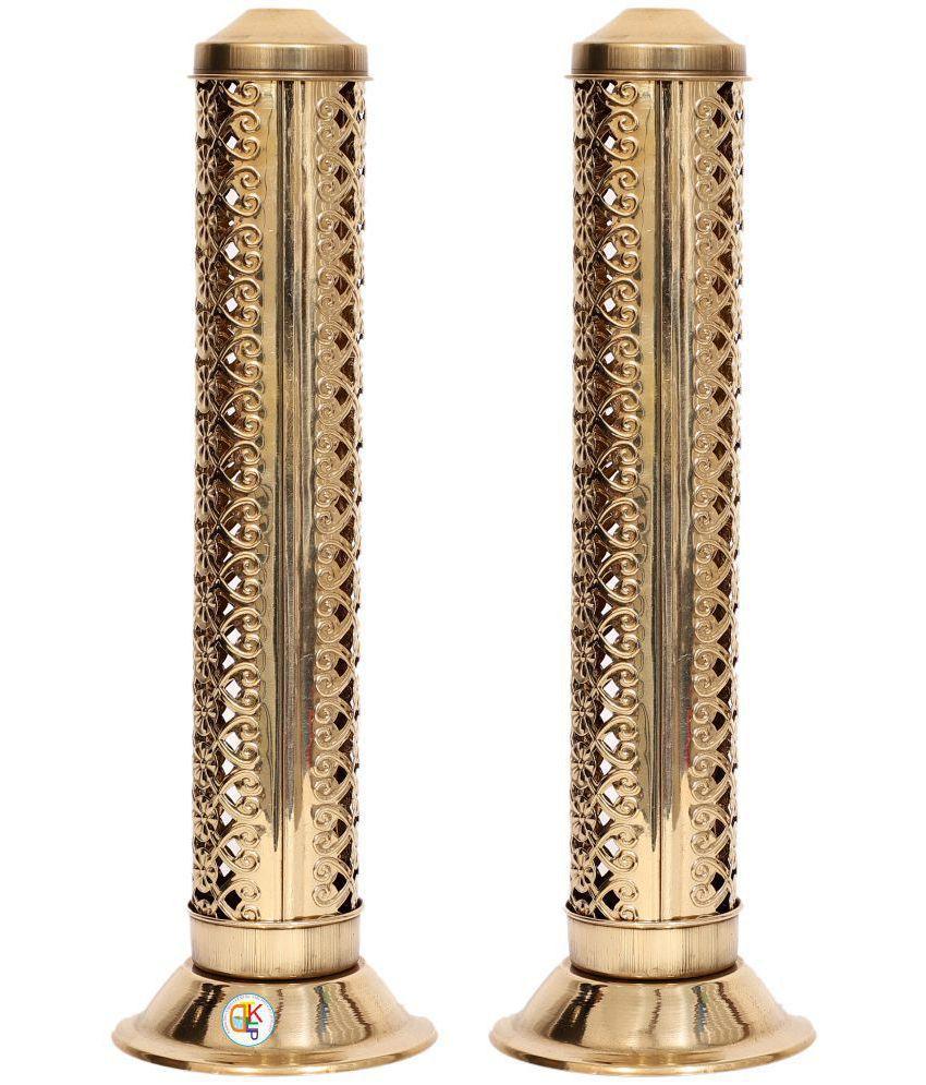Agarbatti Stand Brass Gold - Set of 2 (27 X 9 X 9 cms)