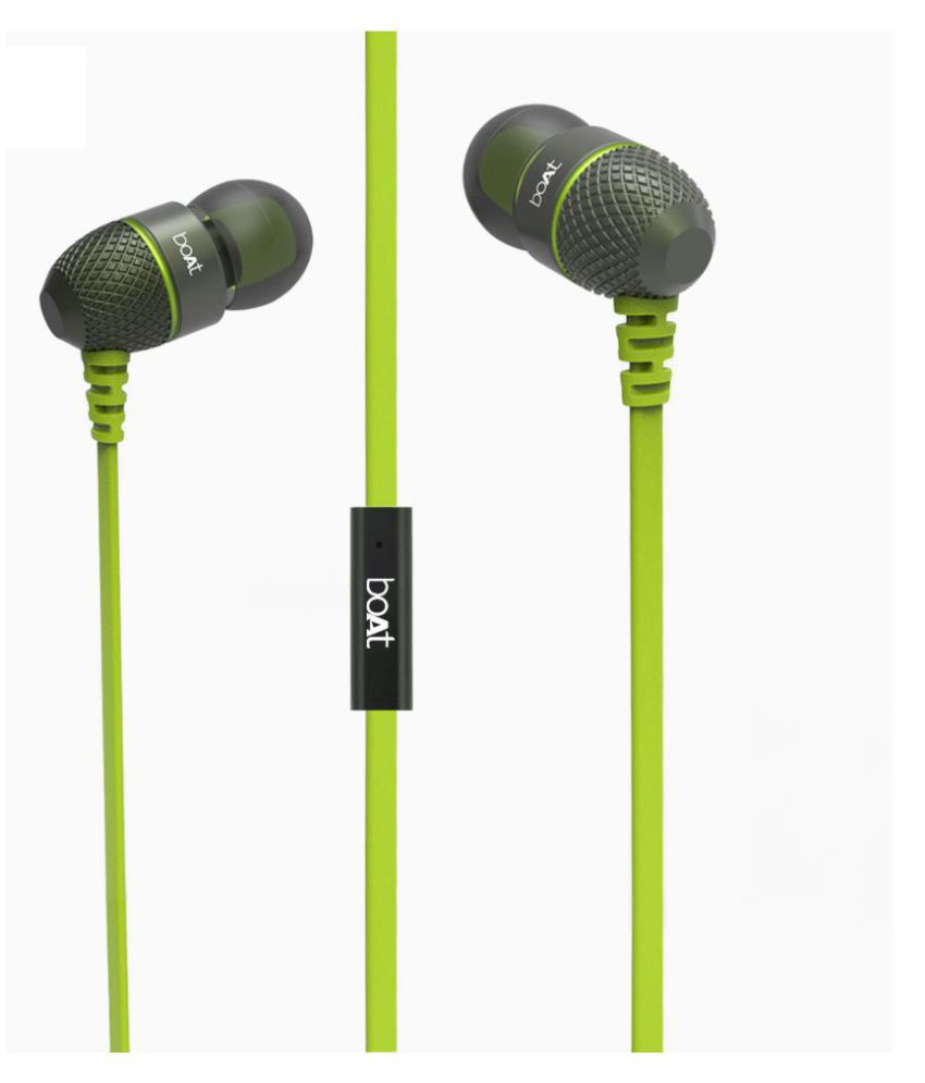 fae609b13ef ... Boat BassHeads 225 (Neon Lime ) In Ear Wired Earphones With Mic ...