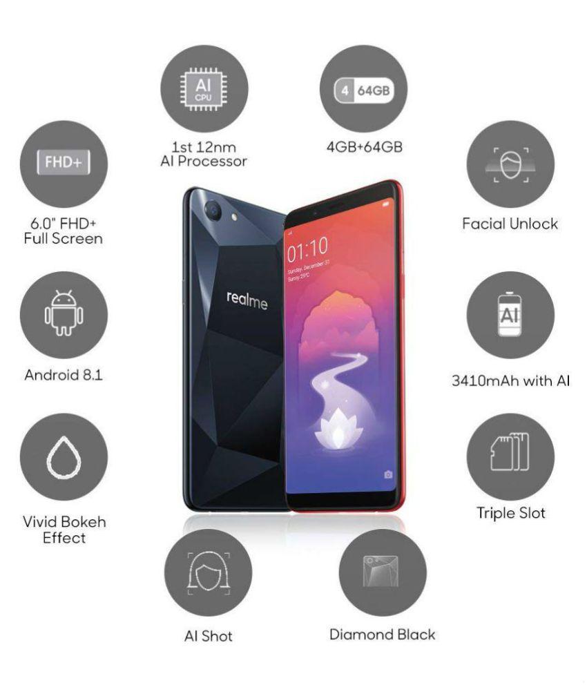 Oppo Realme 1 ( 64GB , 4 GB ) Black