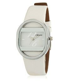 Leather Oval Womens Watch