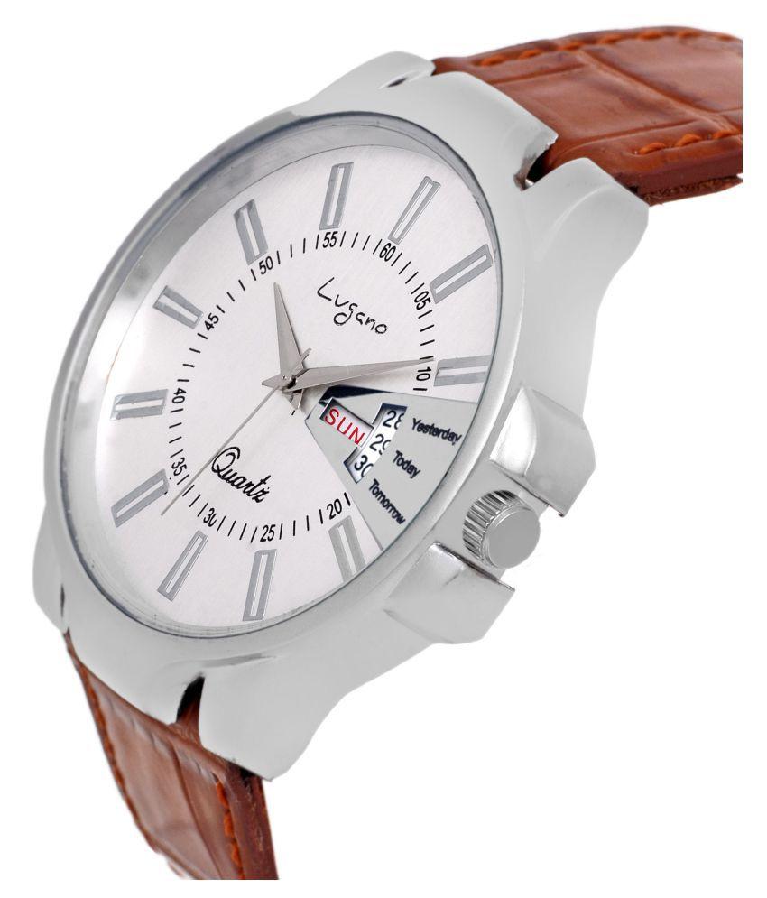 e6390dbee Lugano LG 1133 Leather Analog Men's Watch - Buy Lugano LG 1133 ...