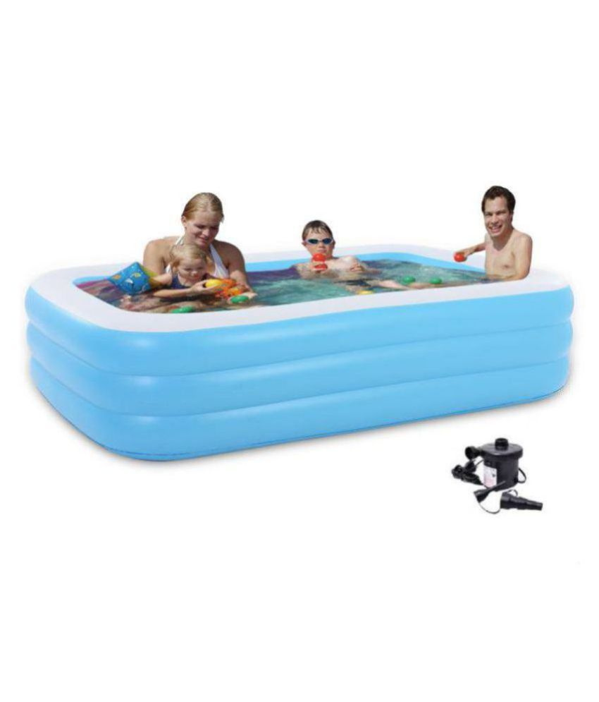 d868097b8575 Inflatable Pool Swimming Tub for Kids & Adults ( SPA ) Jumbo Bath Tub with  Pump