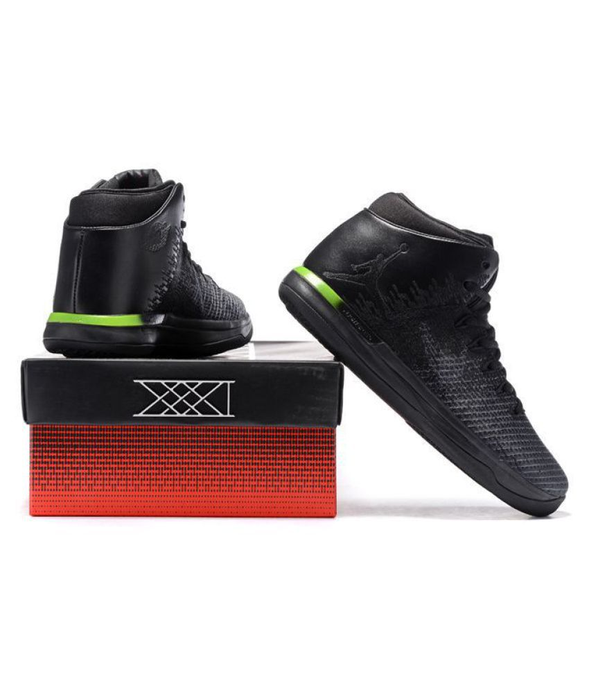 ddee65e2d6a620 Nike Air Jordan 31 XXXI Black Basketball Shoes - Buy Nike Air Jordan 31  XXXI Black Basketball Shoes Online at Best Prices in India on Snapdeal