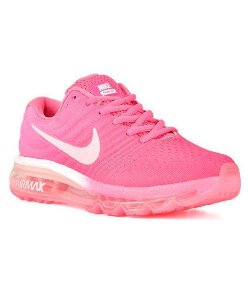 ce347ca026b4 Nike Air Max 2017 Pink Womens Running Shoes Price in India- Buy Nike Air  Max 2017 Pink Womens Running Shoes Online at Snapdeal