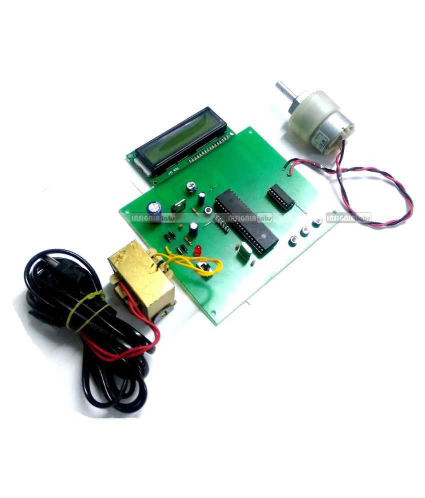 8051 Microcontroller Based Dc Motor Speed Control Duty Cycle Control With Lcd Embedded Project