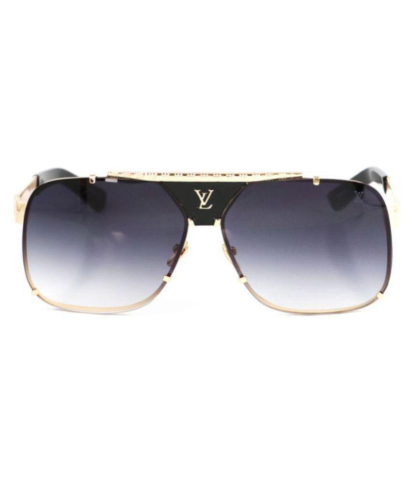5ec6c170a1ea LOUIS VUITTON SUNGLASSES Black Aviator Sunglasses ( L5996 ) - Buy ...