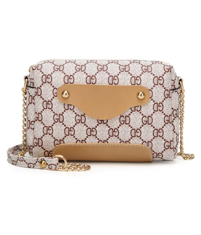 Paris Bally Brown P.U. Sling Bag