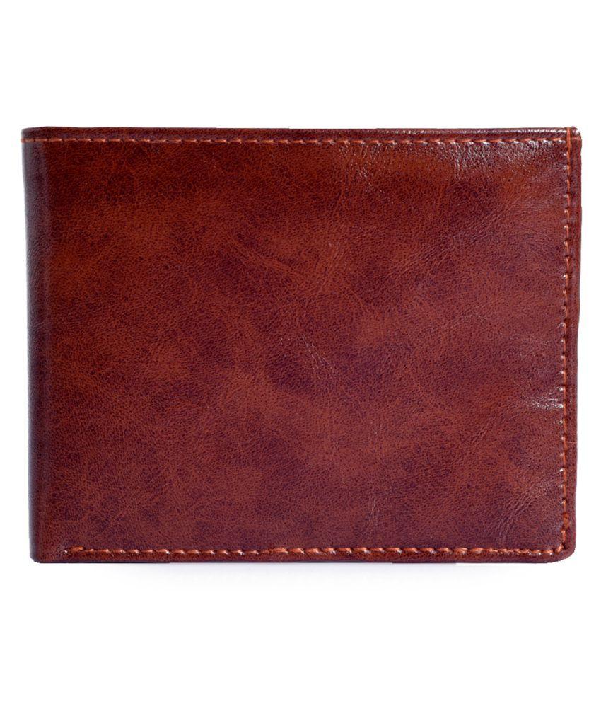 Firenzi Faux Leather BROWN Casual Regular Wallet