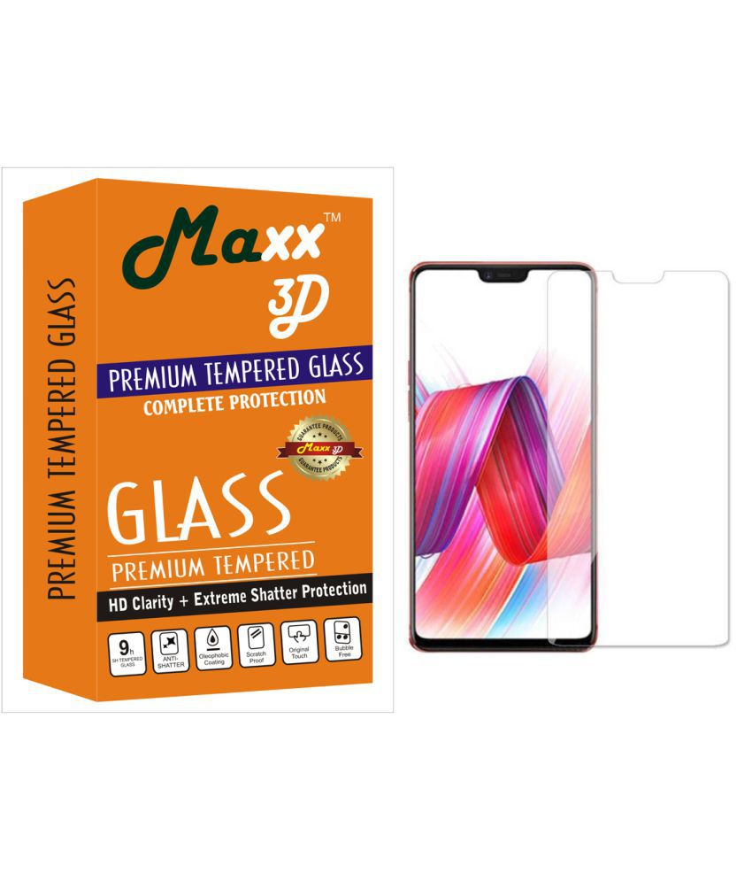 Oppo F7 Tempered Glass Screen Guard By MAXX3D