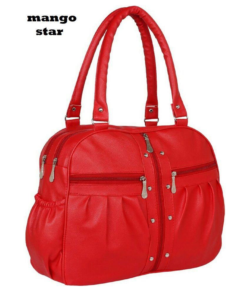 5fc81264341f mango star Red Artificial Leather Shoulder Bag - Buy mango star Red ...