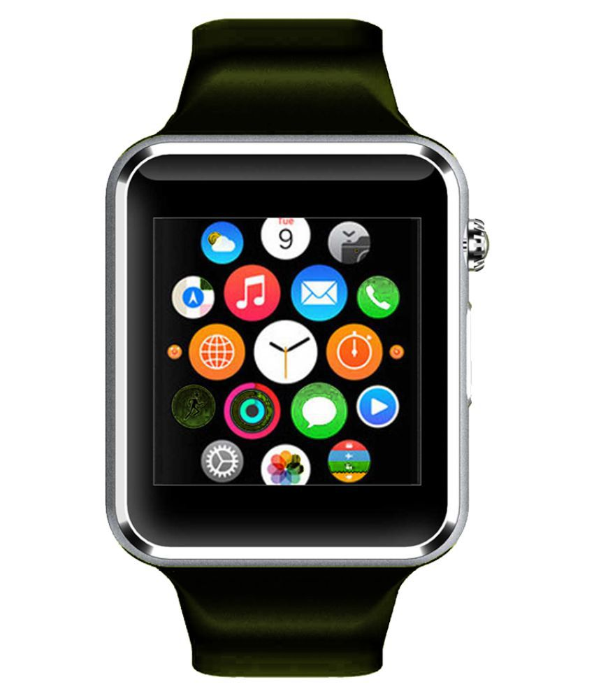 WOKIT Smartwatch Suited Karbonn A15+ A1 Silver Smart Watches