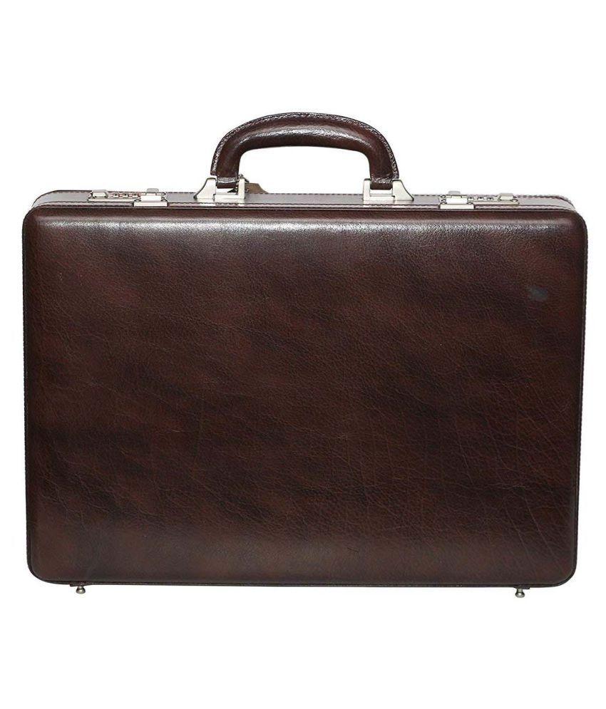 Hifly Brown Medium Briefcase