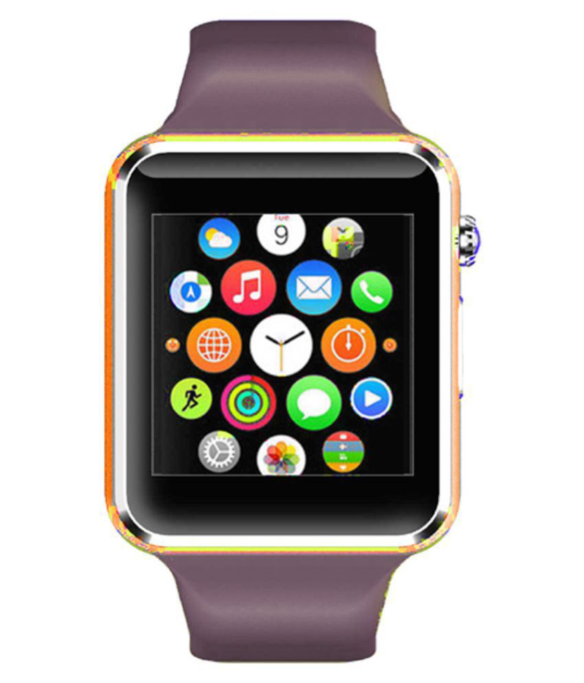WOKIT Smartwatch Suited Intex Aqua A2 A1 Golden Smart Watches