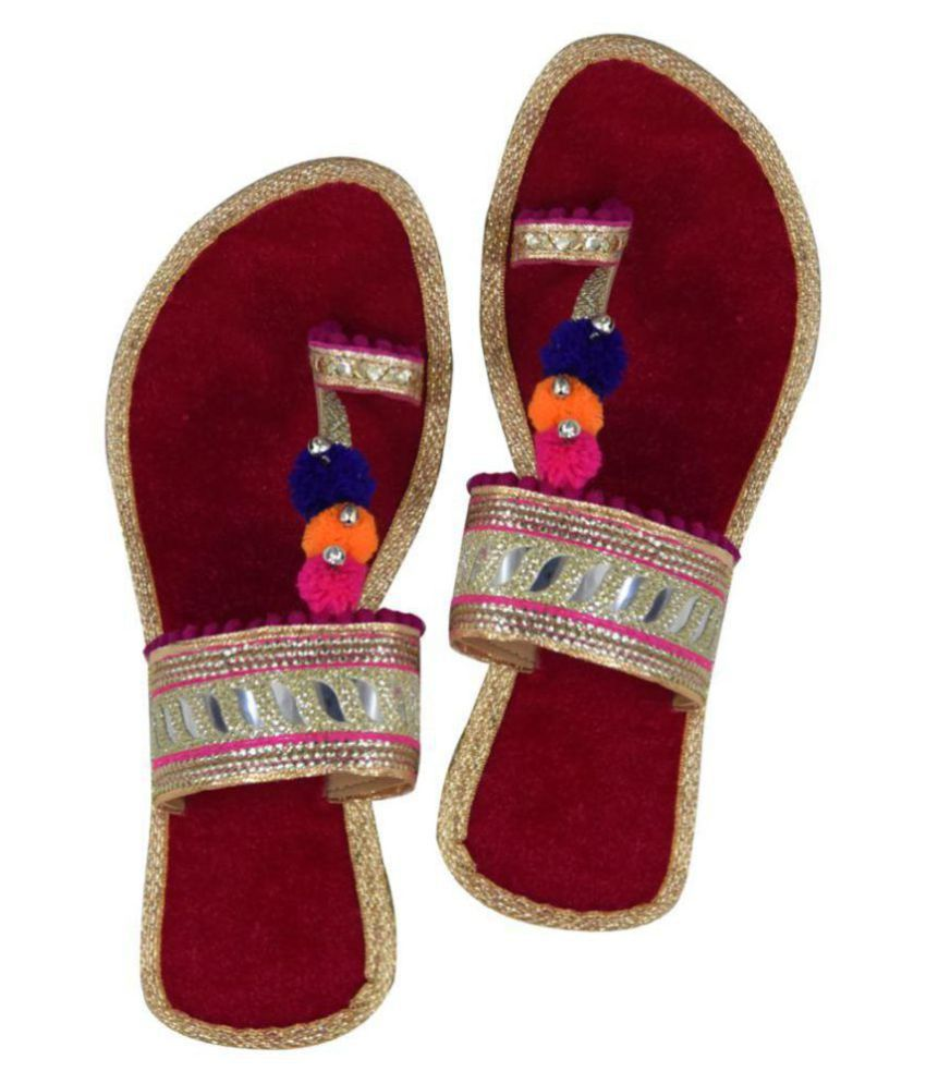 Decot Paradise Red Ethnic Footwear