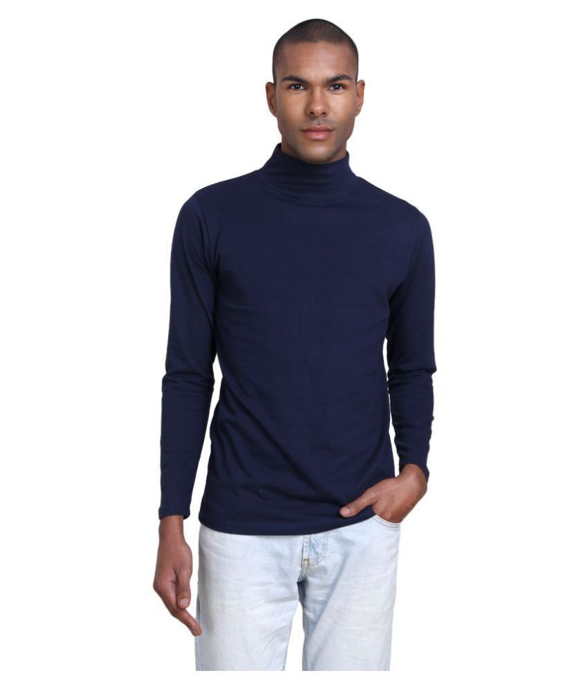 PAUSE Navy Full Sleeve T-Shirt Pack of 1