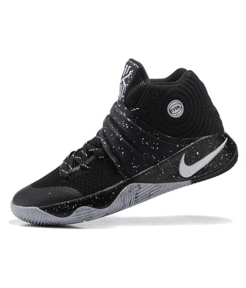 detailed look f677b ec83f Nike Kyrie 2 EYBL Black Basketball Shoes