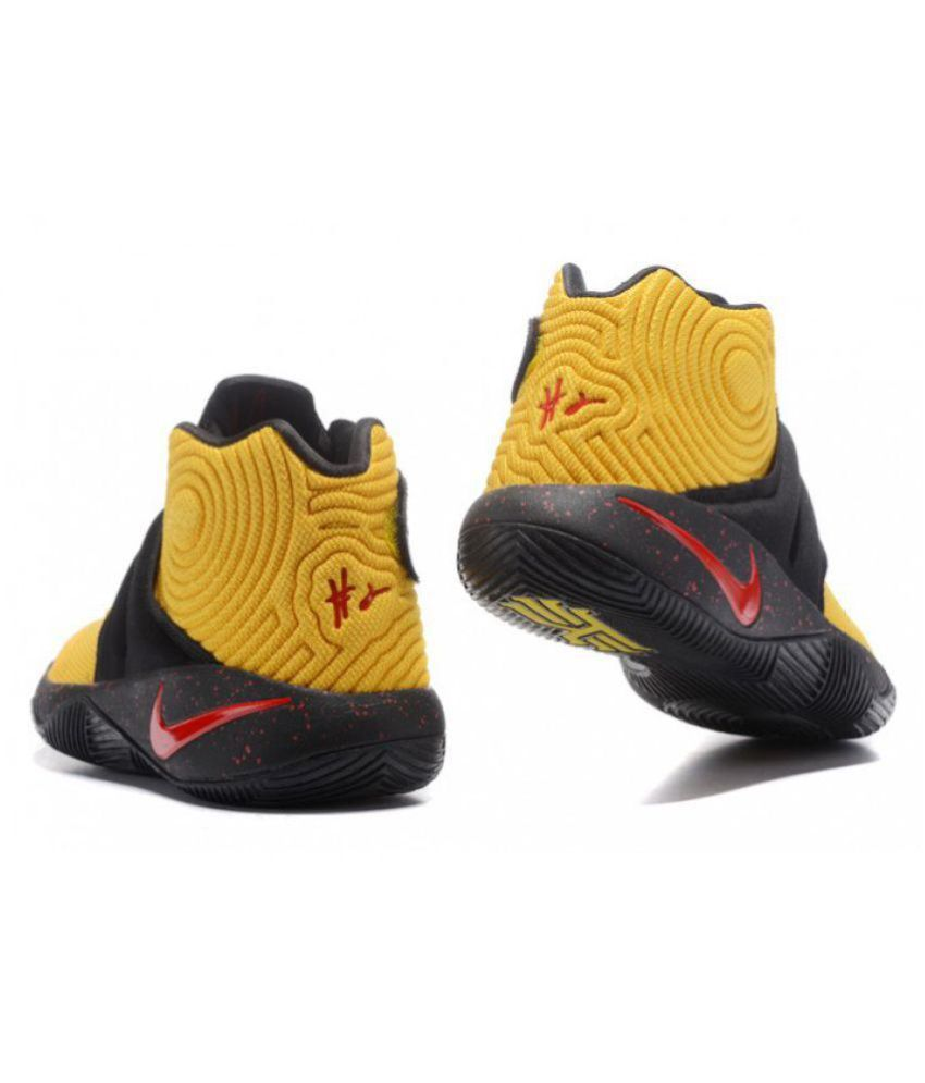 low priced d660f 3845f Nike Kyrie 2 Red Black Yellow Basketball Shoes