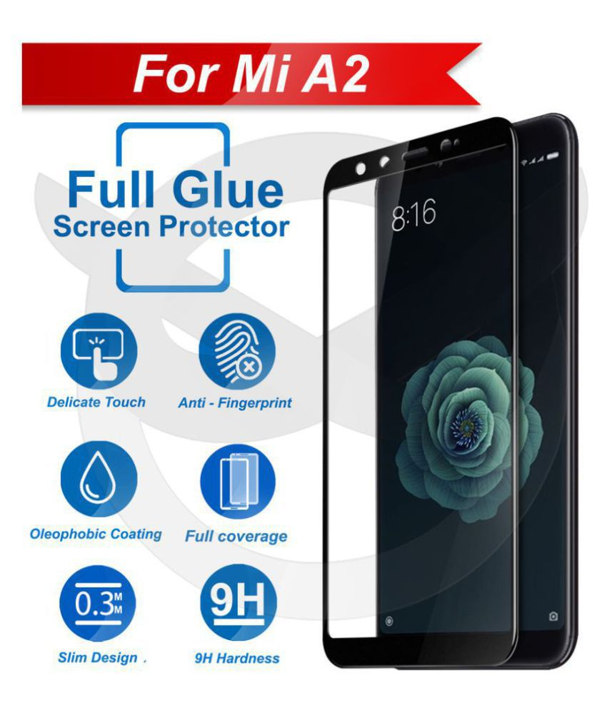 Xiaomi Mi A2 Full Glue Tempered Glass Screen Guard By Knotyy