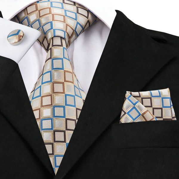 Kamalife Beige Printed Silk Necktie