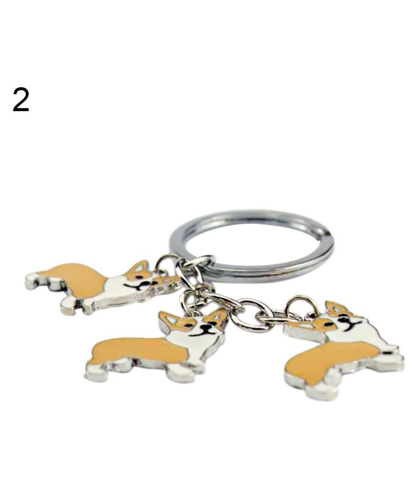 Lovely Bulldog Car Key Chain Bouledogue Dog Pendant Key Ring DIY Keychains Gift