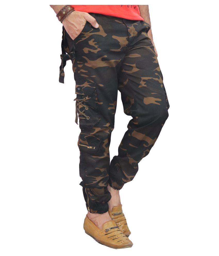 POOL CLUB Dark Brown Regular -Fit Flat Trousers