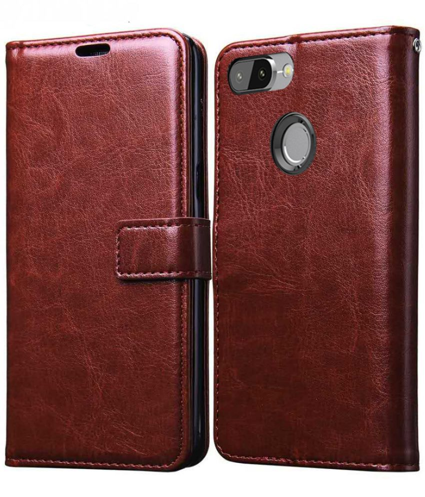 reputable site dad29 49584 Redmi 6 Flip Cover by XORB - Brown