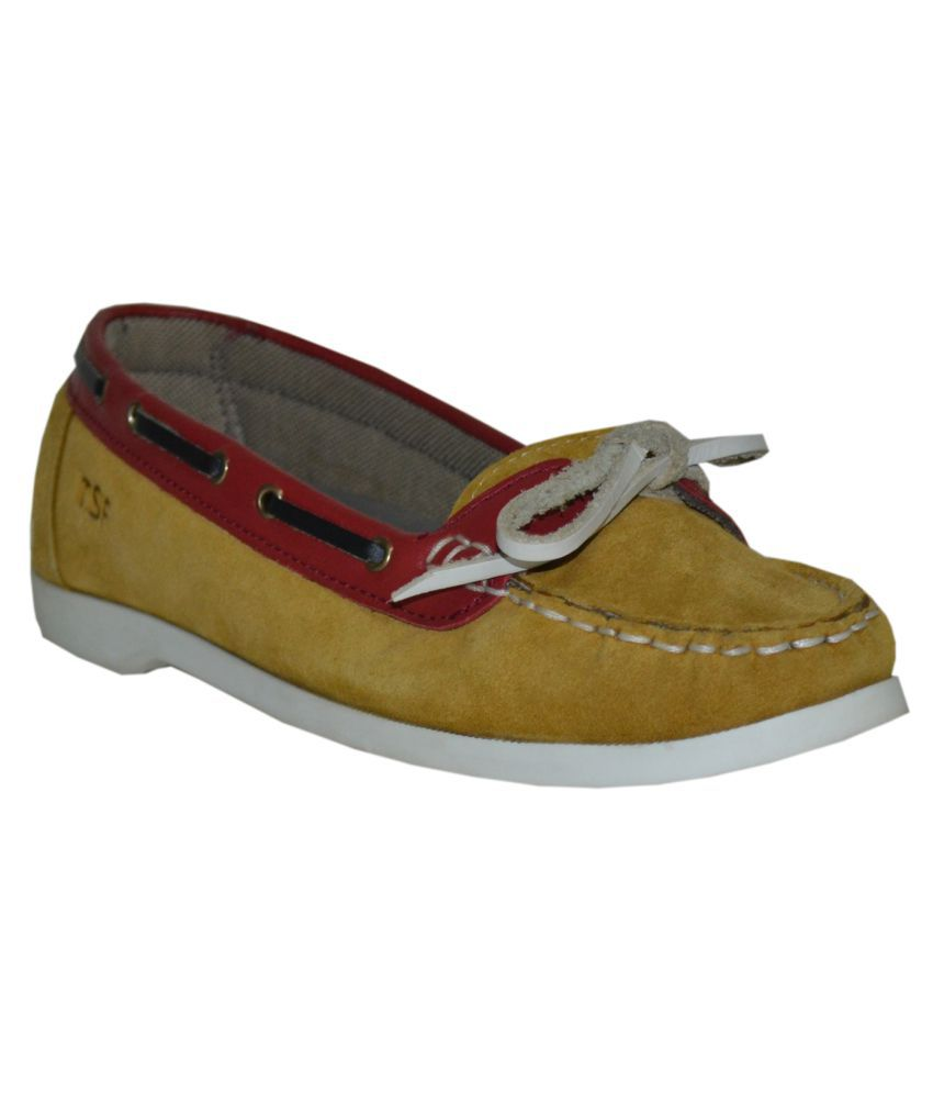 TSF Yellow Casual Shoes