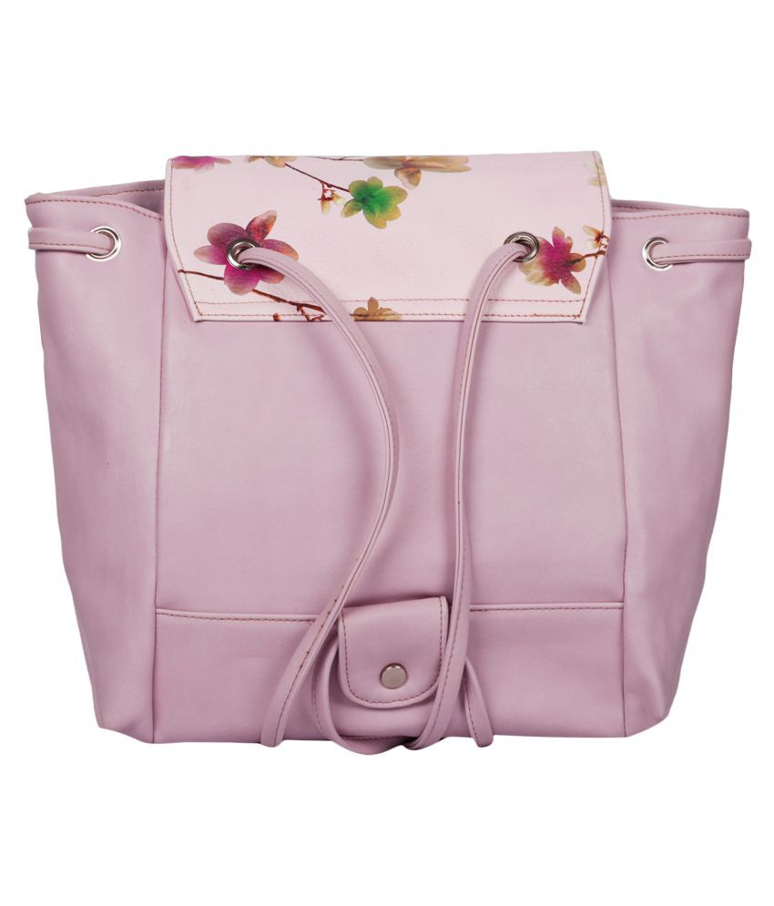 Butterflies Pink Artificial Leather backpack