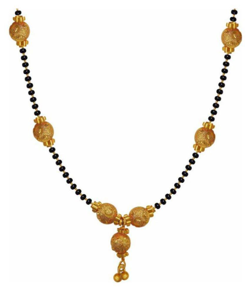 FJ STYLE GOLD PLATED DESIGNER MANGALSUTRA CHAIN IN COPPER