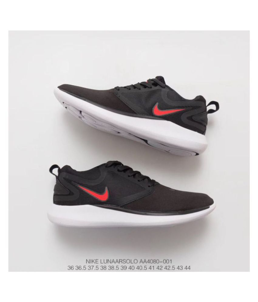 6cb9298c61 Nike Lunarsolo 2018 Black/Red Grey Running Shoes - Buy Nike Lunarsolo 2018  Black/Red Grey Running Shoes Online at Best Prices in India on Snapdeal