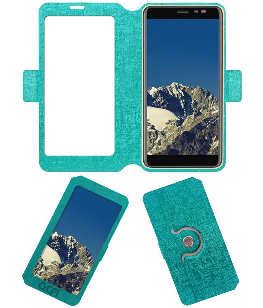 separation shoes 7dccf ecded Mobiistar C1 Lite Flip Cover by ACM - Blue Dual Side Stand