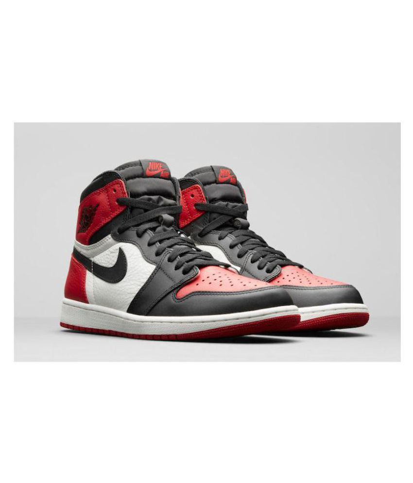 45f1e820 Nike AIR JORDAN RETRO 1 Red Basketball Shoes - Buy Nike AIR JORDAN RETRO 1  Red Basketball Shoes Online at Best Prices in India on Snapdeal
