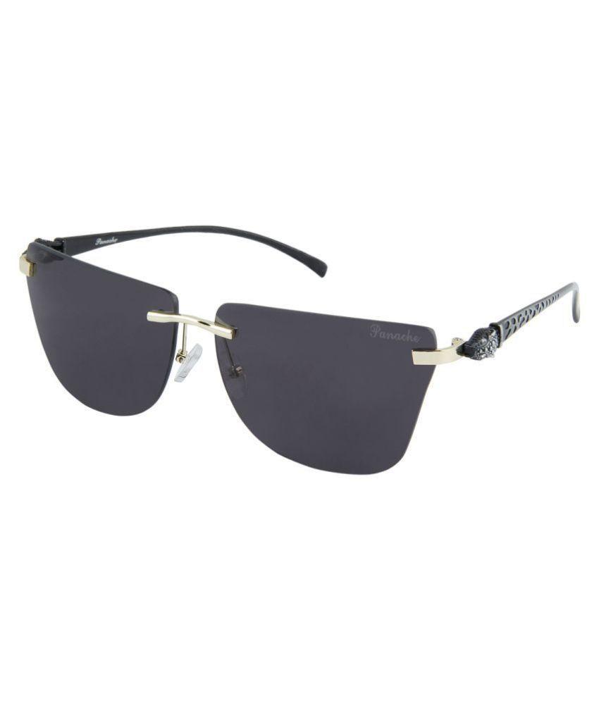 Panache Black Square Sunglasses ( 6809 )