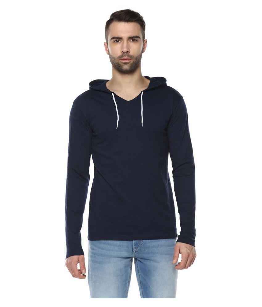 Urbano Fashion Navy Full Sleeve T-Shirt