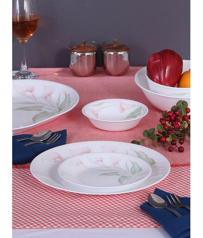 Corelle 21K-LV Glass Dinner Set of 21 Pieces
