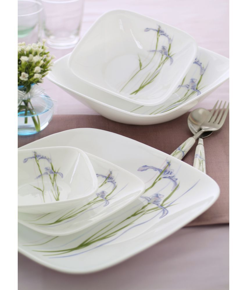Corelle 21SQ-SI Glass Dinner Set of 21 Pieces