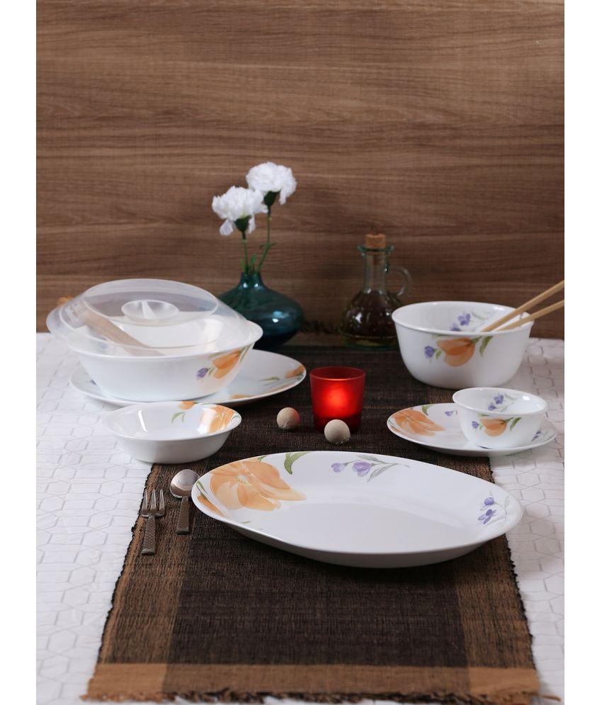 Corelle 57-BGN Glass Dinner Set of 57 Pieces
