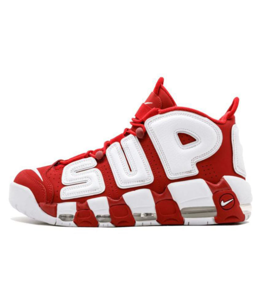 finest selection 2ab3c b7745 Nike Air More Uptempo X Supreme Red Basketball Shoes ...