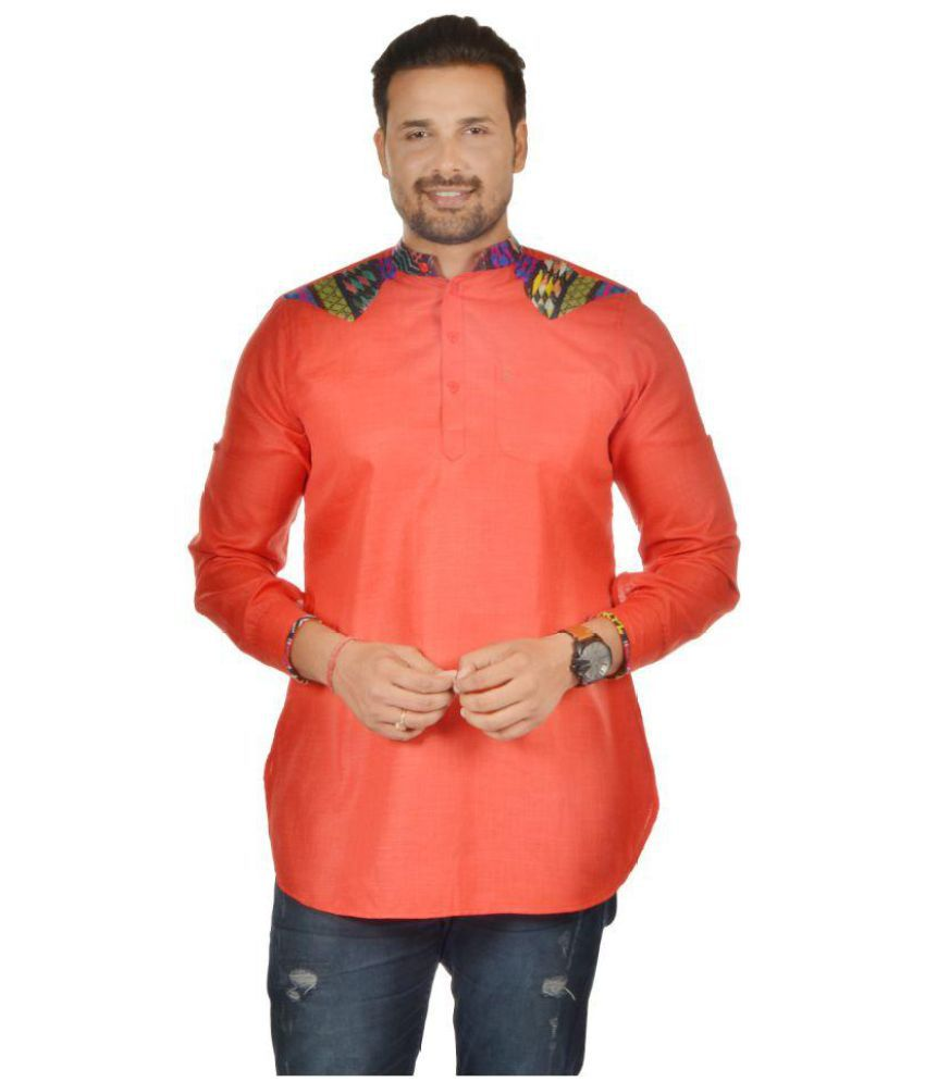 e48ca2907f S9 Men Red Cotton Blend Kurta Single - Buy S9 Men Red Cotton Blend Kurta  Single Online at Low Price in India - Snapdeal